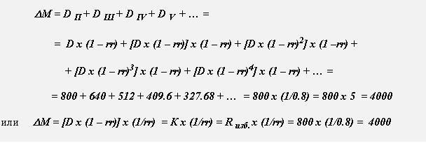 Банковский мультипликатор формула