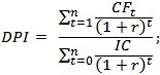 Индекс доходности формула
