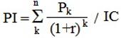 Индекс рентабельности формула