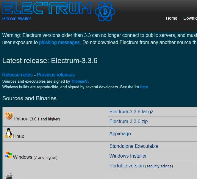 Регистрация и создание Биткоин кошелька на официальном сайте bitcoin.org