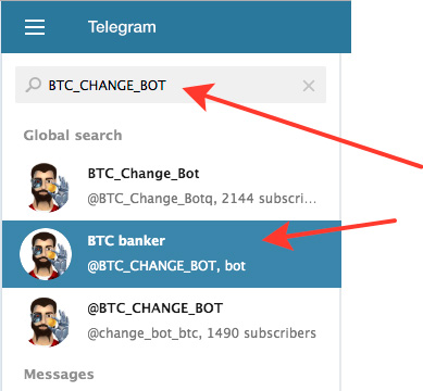 Способ №3. Telegram-бот BTC Banker